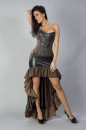 Vivienne Leather Frill Steampunk High Low Skirt